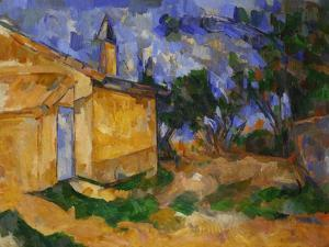 The Cottage of M. Jourdan, 1906 by Paul Cézanne