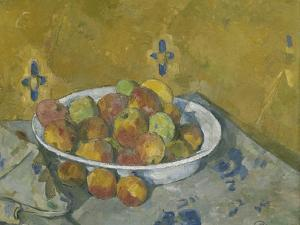 The Plate of Apples, C.1877 by Paul Cezanne