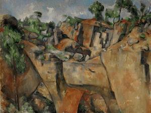 The Quarry at Bibemus, circa 1895 by Paul Cézanne