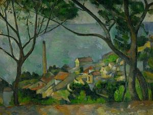 The sea at L'Estaque, Small town near Marseille, represented in twenty-seven of Cezanne's paintings by PAUL CEZANNE