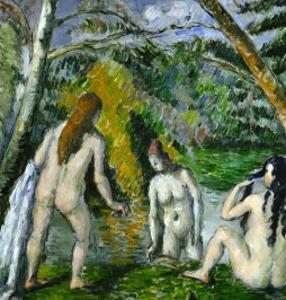 Three Bathers, 1879-1882 by Paul Cézanne