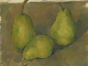 Three Pears, 1878-9 by Paul Cezanne