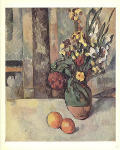 Vase of Flowers and Apples by Paul Cezanne