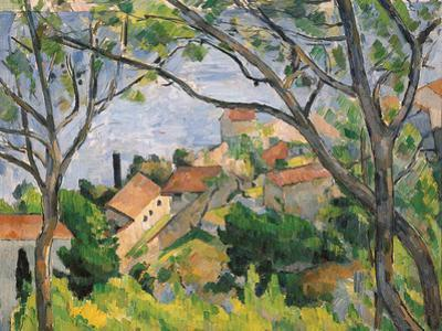 View of L'Estaque Through the Trees, 1879 by Paul Cézanne