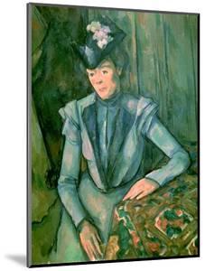 Woman in Blue (Madame Cezanne) 1900-02 by Paul Cézanne