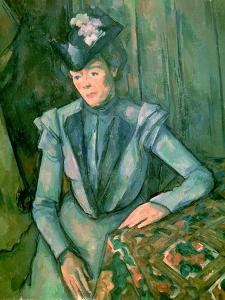 Woman in Blue (Madame Cezanne) 1900-02 by Paul Cézanne