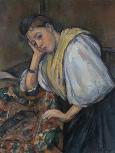 Young Italian Woman at a Table, C.1895-1900 by Paul Cézanne