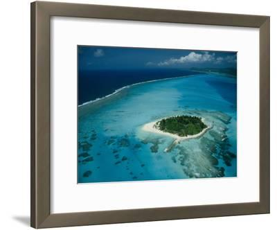 An Aerial View of Saipan Island in Micronesia