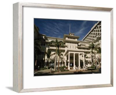 Historic Moana Hotel in Waikiki, Built before 1920