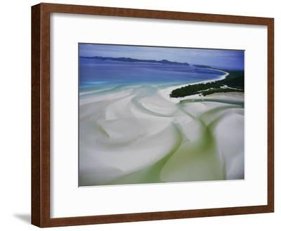 Sandbars Create an Interesting Pattern Along the Shoreline