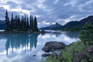 Battleship Islands in the Glacial Garibaldi Lake in Garibaldi Provincial Park by Paul Colangelo