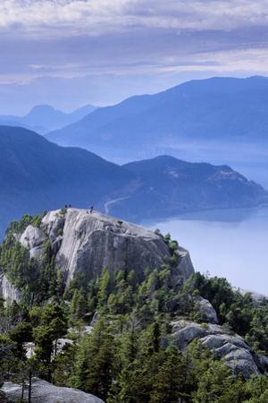 Hikers on the First Peak of the Chief in Stawamus Chief Provincial Park, Squamish, British Columbia by Paul Colangelo