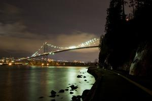 The Lions Gate Bridge, Which Crosses the Burrard Inlet from Stanley Park to North Vancouver by Paul Colangelo