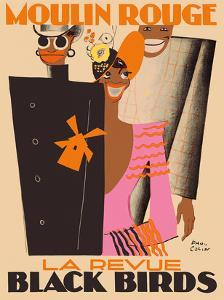 Moulin Rouge, Paris, France - La Revue Black Birds by Paul Colin