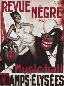 Poster of 'La Revue Negre', 1925 by Paul Colin
