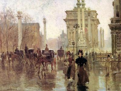 The Dewey Arch, Madison Square Park, c.1900 by Paul Cornoyer