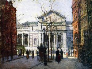 The New York Library by Paul Cornoyer