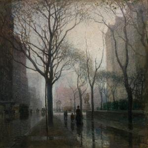 The Plaza after the Rain, 1908 by Paul Cornoyer