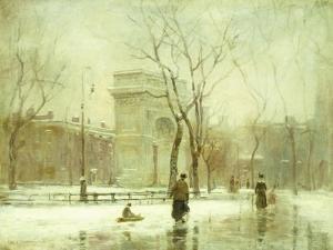 Winter in Washington Square by Paul Cornoyer