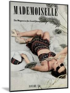 Mademoiselle Cover - January 1938 by Paul D'Ome