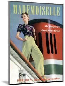 Mademoiselle Cover - January 1939 by Paul D'Ome