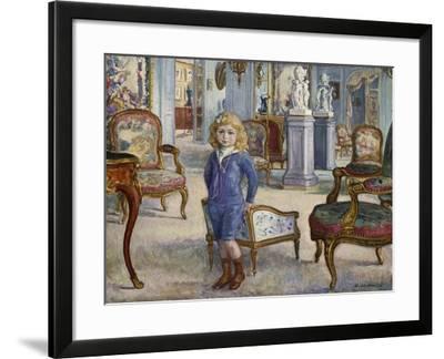 Paul De Camondo at the Hotel De Camondo, 1910-Henri Lebasque-Framed Giclee Print