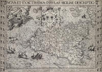 Map Of Sicily by Paul de la Houe