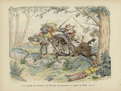 Bertrand Du Guesclin Captures the Captal De Buch at the Battle of Cocherel, 1364