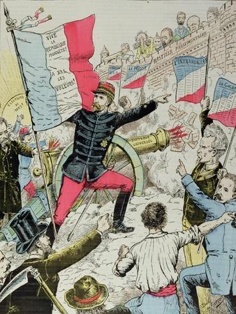 Cover of 'La Bombe' Depicting General Boulanger (1837-91) 'Taking' the Bastille