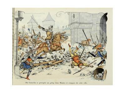 Du Guesclin Gallops Through Town During the Capture of Mantes