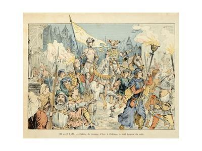 Entry of Joan of Arc into Orleans on April 29, 1429