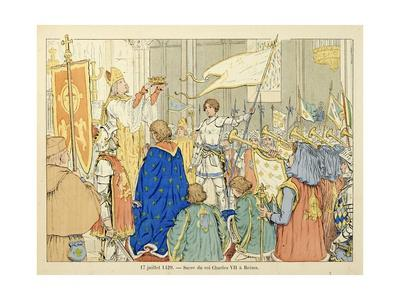 Joan of Arc at Coronation of Charles Vii in Reims, July 17, 1429