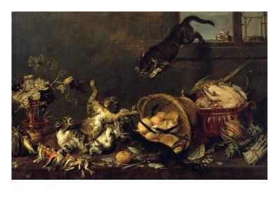 Cats in a Larder