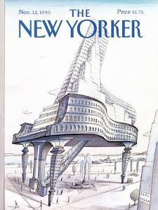 The New Yorker Cover - November 12, 1990 by Paul Degen