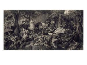 Charlemagne traversant les alpes et forçant les gorges du Mont-Cenis, en 773 by Paul Delaroche