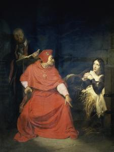 Jeanne D'Arc et le Cardinal de Winchester by Paul Delaroche