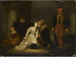 Le supplice de Jane Grey. Etude by Paul Delaroche