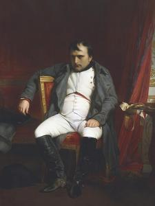 Napoleon at Fontainebleau During the First Abdication - April 1814 by Paul Delaroche