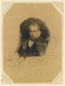 Portrait du peintre Antoine Alphonse Montfort by Paul Delaroche