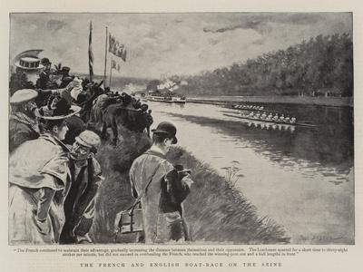 The French and English Boat-Race on the Seine