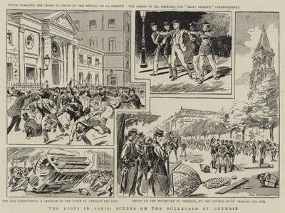 The Riots in Paris, Scenes on the Boulevard St Germain