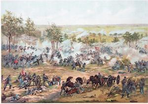 Battle of Gettysburg, 1891 by Paul Dominique Philippoteaux