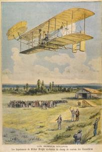 Wilbur Wright Demonstrates His Flying Machine Over the Racecourse by Paul Dufresne