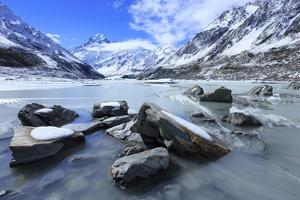 Hooker Valley Glacial Lake, Mt. Cook National Park, South Island, New Zealand by Paul Dymond