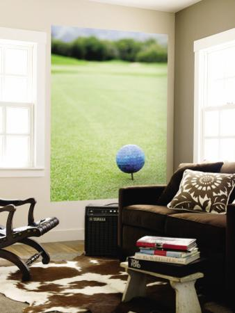 Large Golf Ball Indicates Tee-Off Point