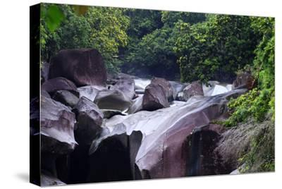 The Babinda Boulders Is a Fast-Flowing River Surrounded by Smooth Boulders, Queensland, Australia