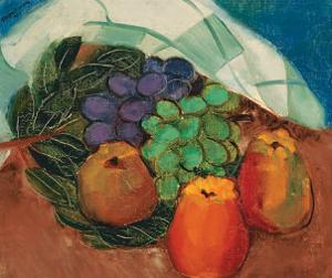 Fruits and Leaves by Paul-Emile Borduas