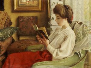 A Good Book, 1905 by Paul Fischer