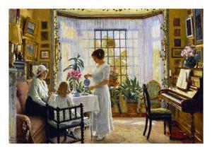 Afternoon Tea, c.1914 by Paul Fischer
