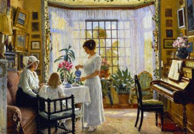 Afternoon Tea, c.1914 by Paul Fischer